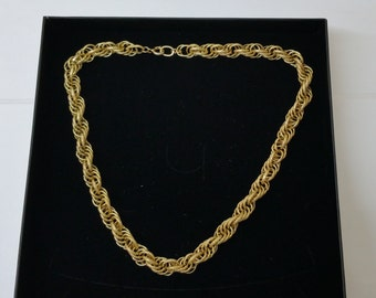Gorgeous link chain necklace gold plated MK120