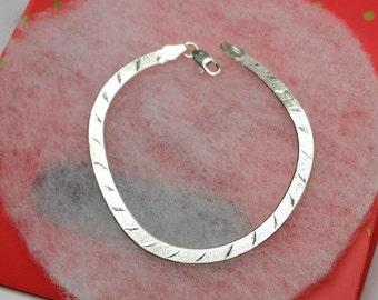 Bracelet 925 Silver snake bracelet silver vintage SA149