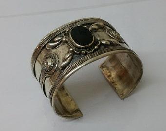 Mexican silver bracelet with Onyx 925 SA222