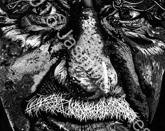 "Ink drawing - ""Derek"" Large limited edition print"