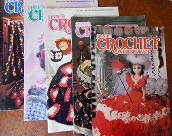 Vintage Annie's Crochet Pattern Books From 1992, Crochet Magazines, Crochet Patterns