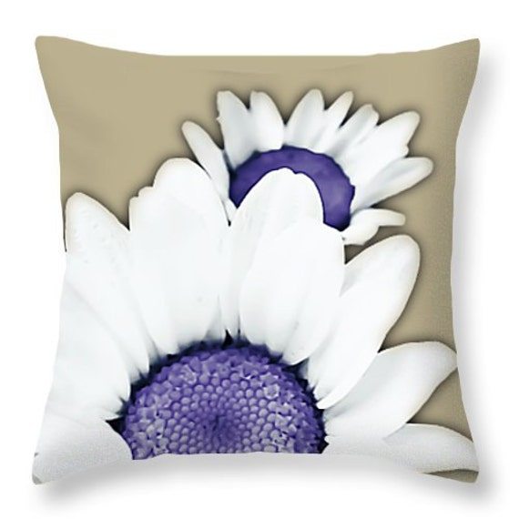 Items similar to Decorative Throw Pillows,White Purple ...