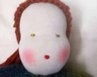 "Waldorf Doll, 13"", Hand Knit, Wool"