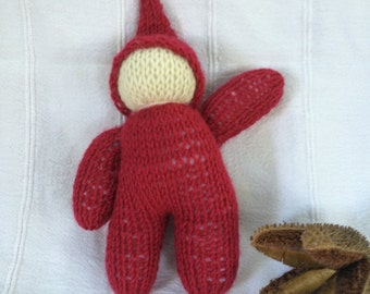 Waldorf Gnome Doll 7 Inch Hand Knitted