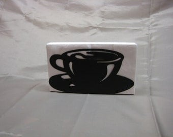 Coffee Cup Napkin Holder Letter Holder