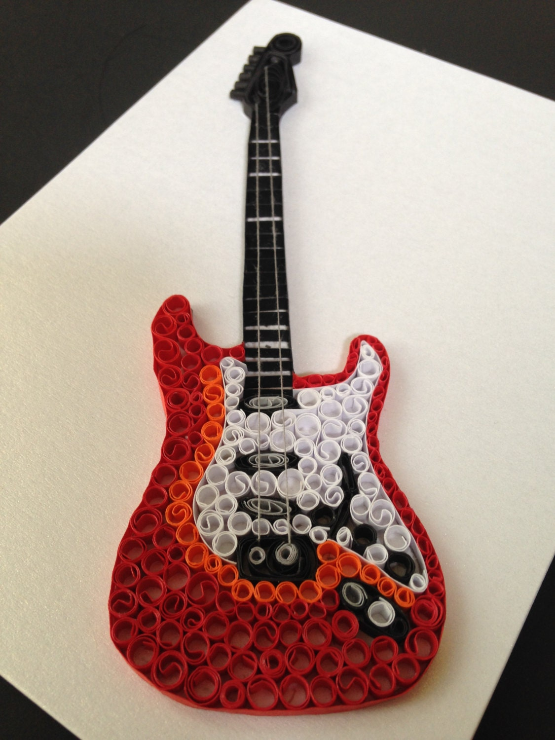 quilling electric guitar birthday cards all occassion cards