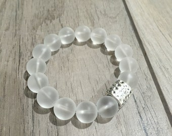 Glass beaded bracelet perfect for layering under 20 free shipping
