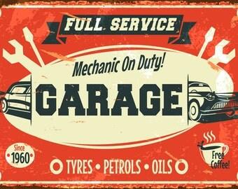 Garage, Vintage Style  Metal Sign,  No.643