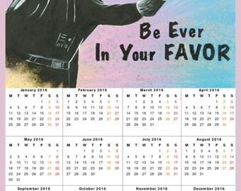2016 Wall Calendar - The Vader Games