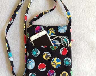Pokemon Crossbody Purse, sling purse, small purse, travel purse, PE , messenger bag