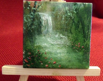 2 5/8 inch mini magnet back oil painting