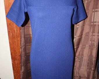 Navy Blue Goldworm Dress
