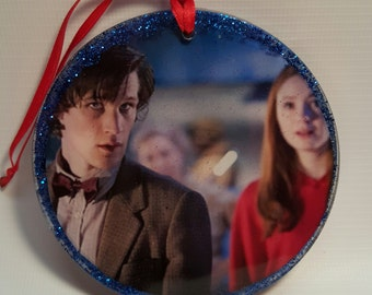 11th Doctor and Amy Pond Window Ornament