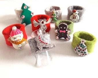 FELT RING CHRISTMAS
