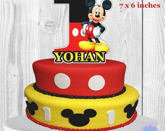Mickey Mouse Cake Topper, Mickey Mouse Centerpiece