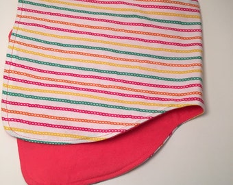 Summer Stripes Burpcloth