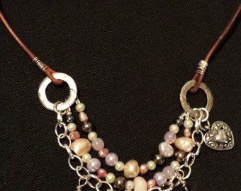 Pearl Combo Triple-Strand Necklace