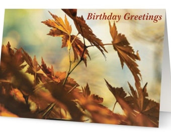 Birthday Greetings w/matching envelope