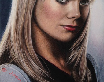Emma Stone/Gwen Stacy Original Fine Art Colored Pencil Drawing
