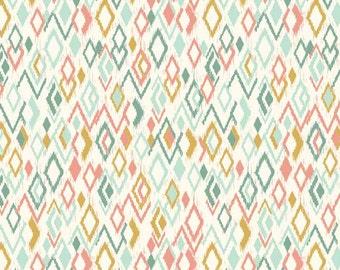 Makower Sophia Fabric Ikat Diamonds 100% Cotton