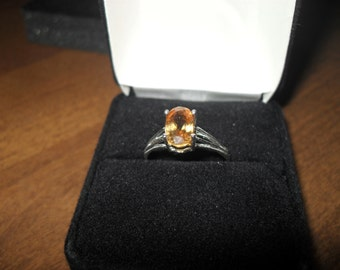 Sparkling Golden Brown  Zircon Certified Genuine And Set In A Silver Ring