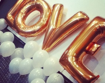 40' LOVE COMBO / Jumbo Balloons / Wedding Decor / Foil Letter Balloons / Engagament Party / Anniversary Party