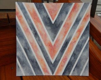 Chevron Watercolor
