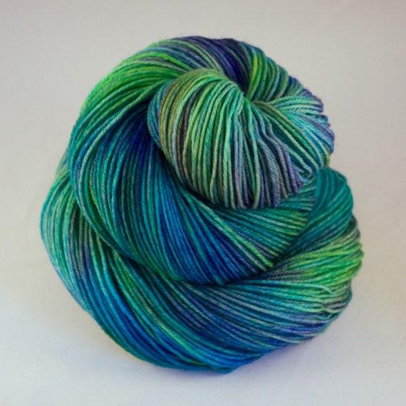 Hand Dyed Yarn : Hand Dyed Sock Yarn, hand dyed wool, variegated sock yarn, nylon sock ...
