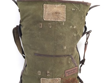 15.000 HUF Repurposed WWII canvas backpack tote bag