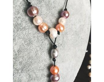 Peach & Plum Necklace