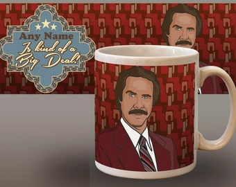 Personalised Anchorman Funny Mug Cup Unofficial Inspired Personalized