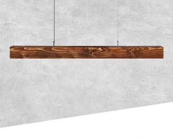 Esszimmer Deckenlampe / Balkenlampe aus Massivholz 150cm