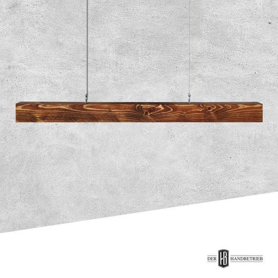 esszimmer deckenlampe / balkenlampe aus massivholz 150cm, Esszimmer dekoo