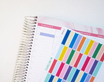 Flag Style Strips for the Hourly Life Planner (TPY015)