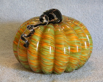 Art Glass Pumpkin - Blown Glass