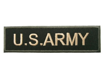 U.S. ARMY Military Motif Biker Embroidered Applique Iron on Patch