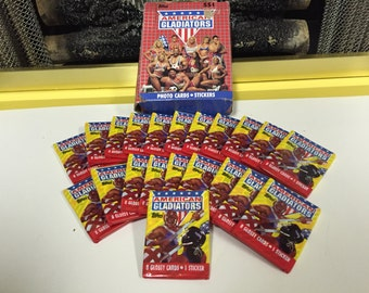 21 Unopened Packs of 1991 Topps American Gladiators Trading Cards