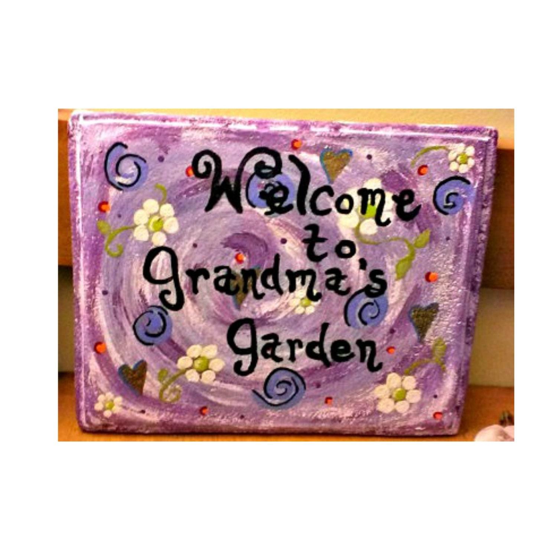Garden stepping stone handmade stepping stone hand painted - Hand painted garden stones ...