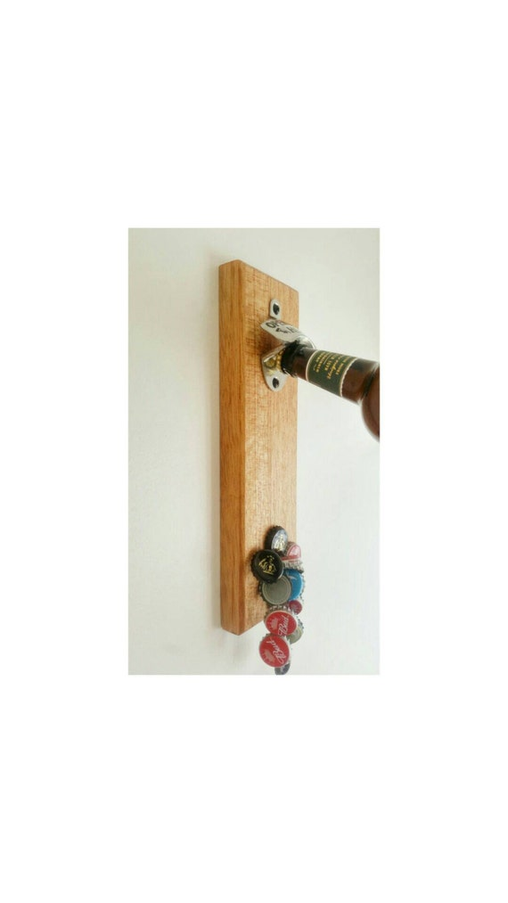 Wall mounted magnetic bottle top catching beer by thebeerwrench - Bottle opener wall mount magnet ...