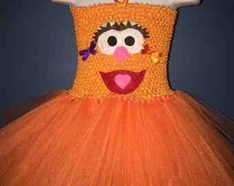 Orange tutu dress, costume tutu dress, dress up, costume,