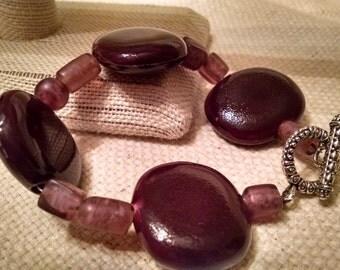 Eggplant round bracelet