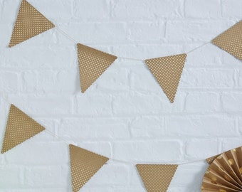 Kraft Gold Foiled Polka Dot Bunting - Pick And Mix