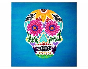 Candy Skull Canvas
