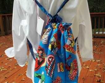 Super Hero  Backpack, Drawstring Bag