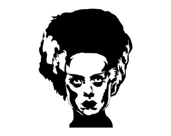 Bride of Frankenstein Vinyl Decal bumper sticker Mary Shelly Boris Karloff Horror Classic Movie Monster
