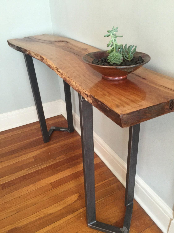 sofa table entryway table live edge slab bar table console. Black Bedroom Furniture Sets. Home Design Ideas