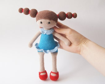 Crochet Doll, Stuffed Toy, Gift For Kids, Amigurumi Doll, Crochet Amigurumi Handmade, Crochet Toy, Soft Doll