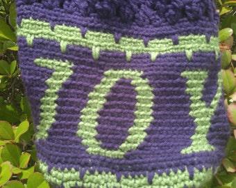 Drawstring Crochet Hobo Bag,