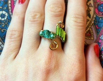 Vintage mermaid ring