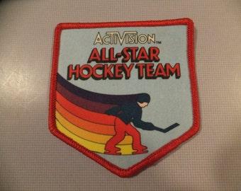 Activision All-Star Hockey Team Original Atari 2600 Vintage Video Game Iron On Patch
